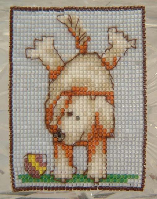 Dog from cross stitch pattern