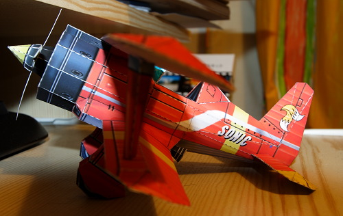 Sonic Biplane Papercraft