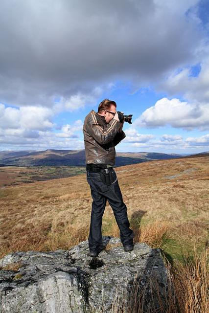 Dave Attempting a Panoramic Photo