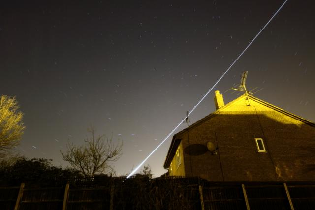 Outake from Star Trails Trial - Plane