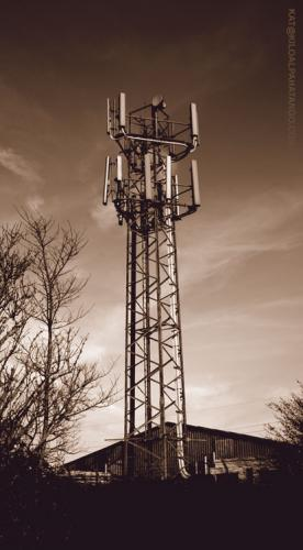Mast: A telecommunications mast out in the Winterbourne area.