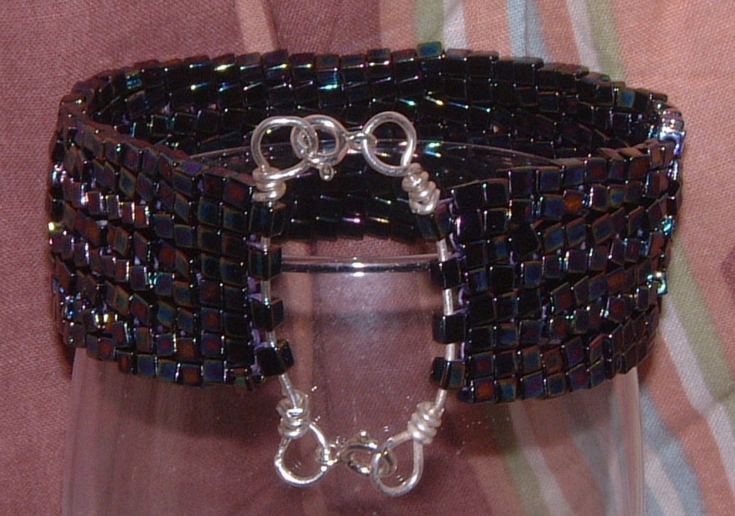 Peyote cube bracelet